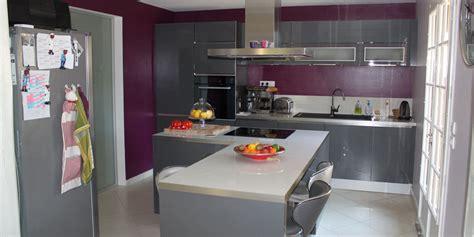 idee decoration cuisine photo idée déco cuisine prune