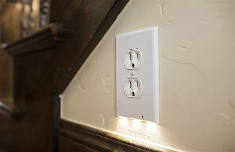 wall outlet led light easy snap outlet cover