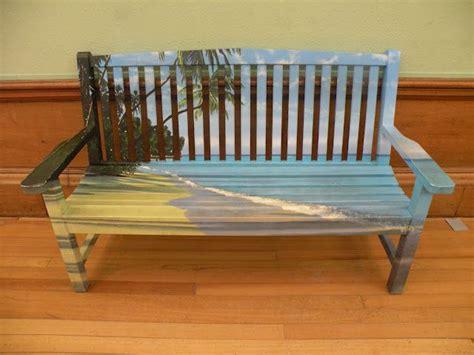painted bench  kelvingrove art gallery museum