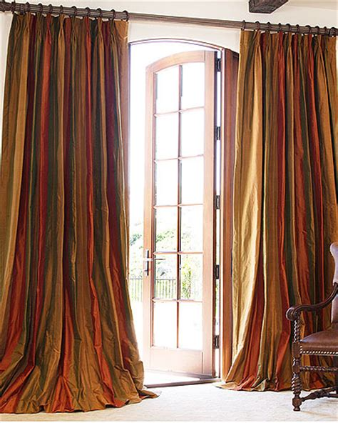 Silk Striped Drapes - made striped silk drapes and blinds on sale
