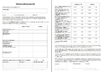 Selbstauskunft Wohnung Formular by Mieterselbstauskunft Die Selbstauskunft F 252 R Mieter