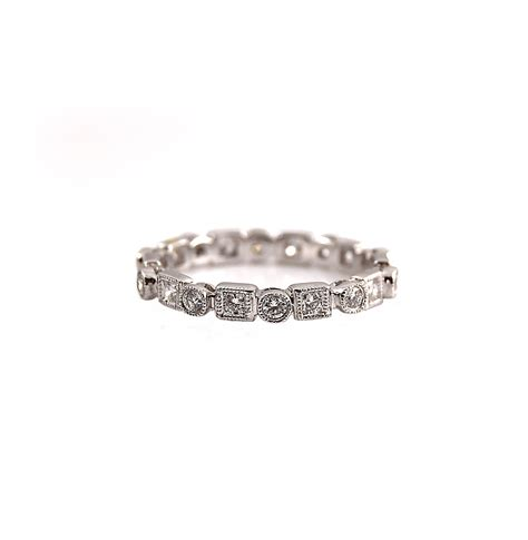 alternating shape brilliant cut diamond wedding ring b13218 diamonds pearls perth