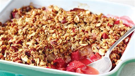 rhubarb crisp strawberry rhubarb crisp recipe dishmaps