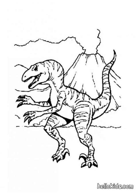 Allosaurus Kleurplaat by Allosaurus And Volcano Coloring Pages Hellokids