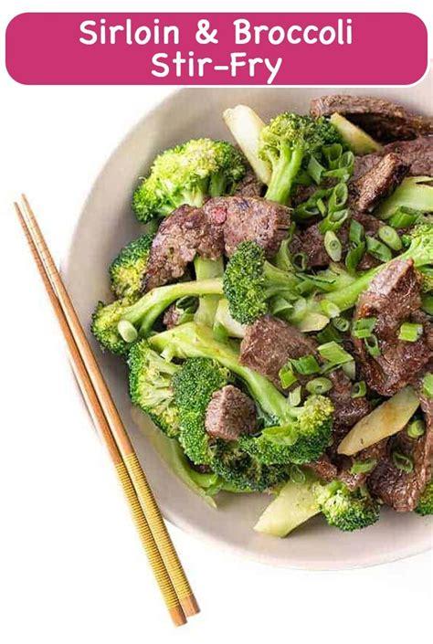 1 1/4 lb boneless beef top sirloin steak 1. Sirloin and Broccoli Stir-Fry {Diabetic-friendly recipe ...