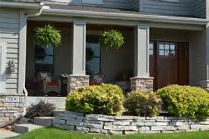 Stone Front Porches with Columns