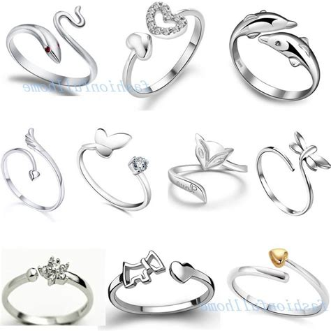 silver ring designs for photo simple silver wedding