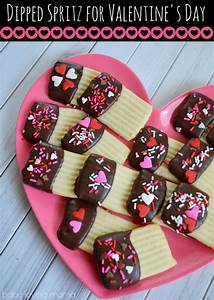 Chocolate Dipped Spritz for Valentine's Day - Finding Zest