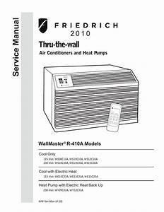 Friedrich Wallmaster Ws10b10 User U0026 39 S Manual
