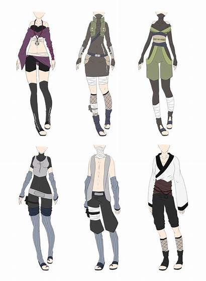 Outfit Deviantart Anime Ninja Naruto Outfits Clothes