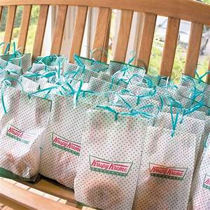 when the night was through guests took home two krispy With krispy kreme wedding favors