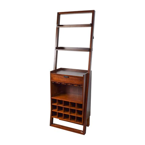 Leaning Bookshelf by 33 Crate Barrel Wood Leaning Bookshelf Bar Storage