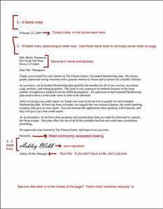 business letter format spacing template With how to space a cover letter