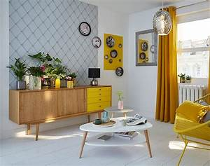 Deco Vintage Salon : inspiration d co soleil vintage all yellow home ~ Melissatoandfro.com Idées de Décoration
