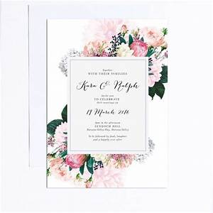 25 best ideas about floral wedding invitations on With wedding invitations printing adelaide