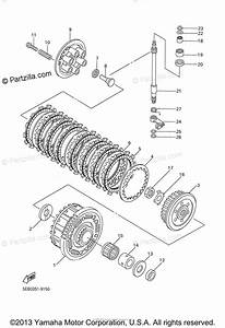 Yamaha Motorcycle 2001 Oem Parts Diagram For Clutch