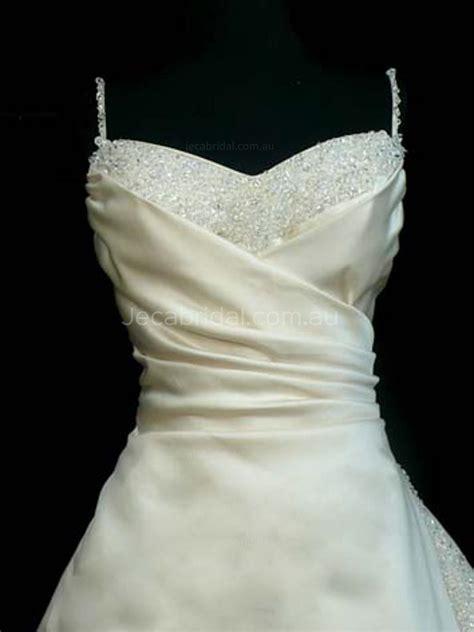 beaded spaghetti straps wedding dress catherine