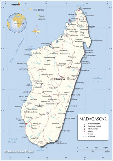 political map  madagascar nations  project