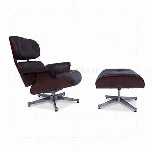 Eames Lounge Chair Replica : eames style lounge chair and ottoman brown leather cherry ~ Michelbontemps.com Haus und Dekorationen