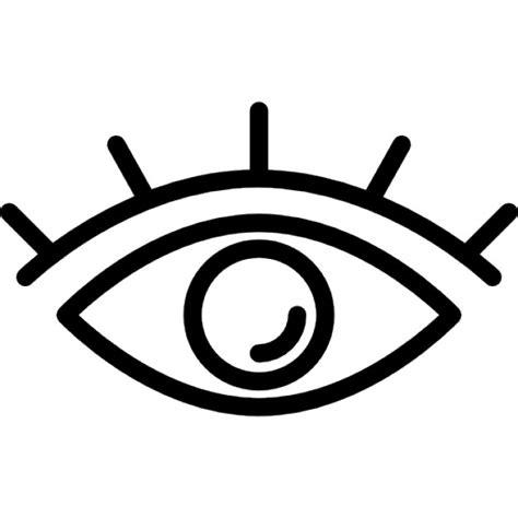 simple eye clipart black and white augen umriss mit wimpern der kostenlosen icons