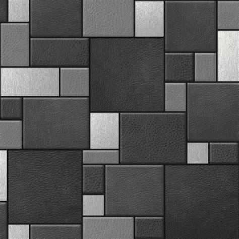 designer wallpaper leather tiles koziel  murivamuriva