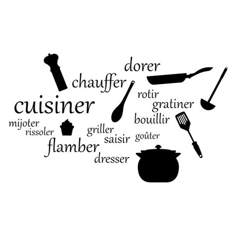 stickers citation chambre stickers cuisinier achetez en ligne