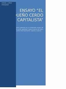 Ensayo  Peque U00f1o Cerdo Capitalista Doc