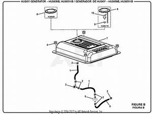 Homelite Hu3650b 3 650 Watt Generator Parts Diagram For