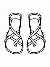 Kleurplaat Coloring Kleurplaten Sandals Pages Kinderen Sandaal Sandalen Gratis Voor Bible Van Kleding Colouring Sunday Walking Turn Into Clipart Sandal sketch template