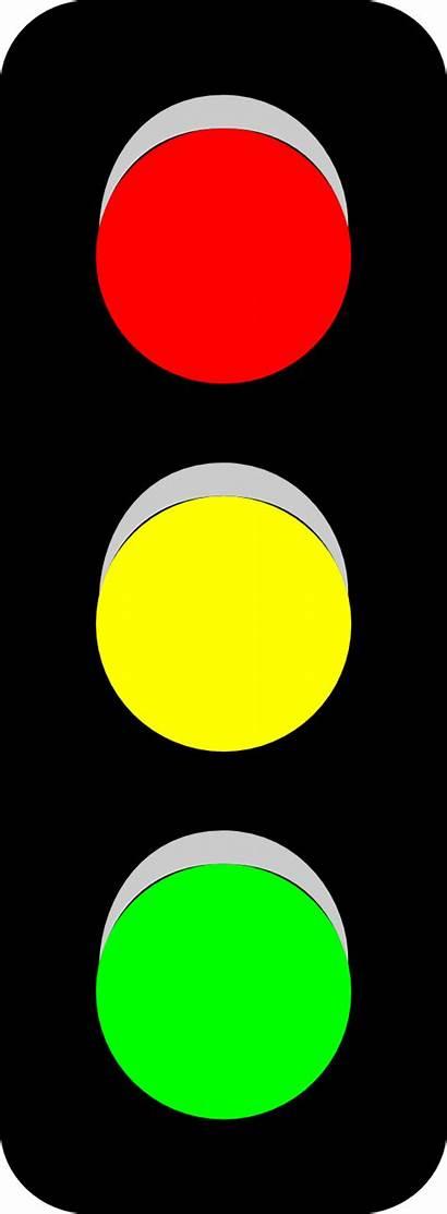 Clipart Traffic Clip Cartoon Lights Yellow Stop
