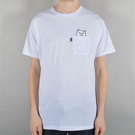 pocket tshirt rip n dip rip n dip lord nermal pocket t shirt white skate