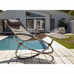 Bain De Soleil En Aluminium : bain de soleil bascule cercle aluminium textil ne taupe ~ Teatrodelosmanantiales.com Idées de Décoration