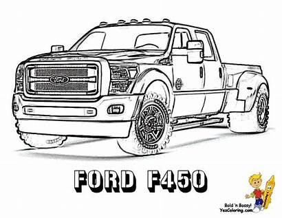 Coloring Truck Ford Pages Trucks Lifted Dodge