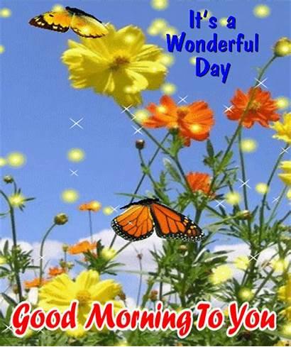 Morning Card Sunday Happy Wonderful Gifs Flowers