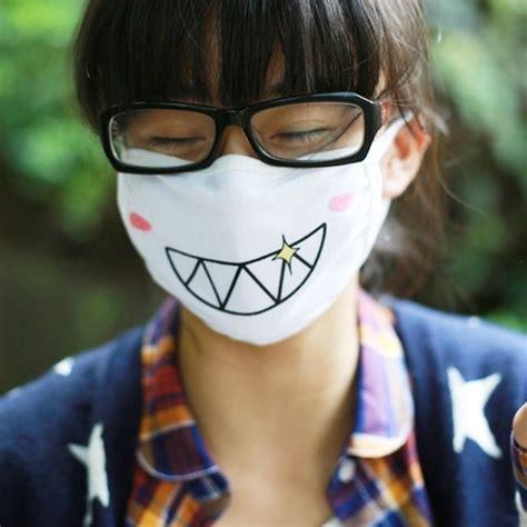 japanese anime emoji face mask  variations ju