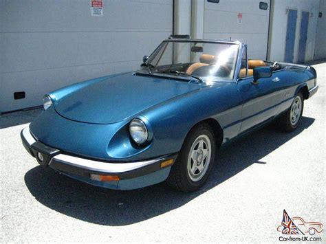 1988 Alfa Romeo by 1988 Alfa Romeo Spider Veloce No Reserve