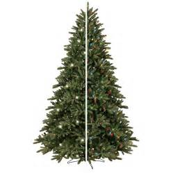 shop ge 7 5 ft pre lit frasier fir artificial christmas tree with color changing led lights at
