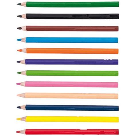 agenda bureau en gros crayons de couleur gros module pochette de 12 maped