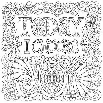 Coloring Pages Adult Choose Adults Printable Joy