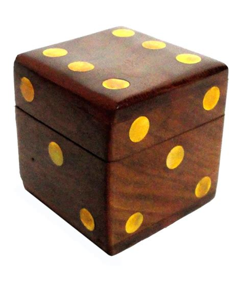craft store india wooden dice box   buy