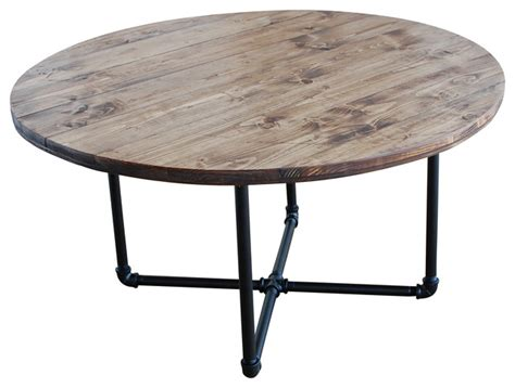 round industrial coffee table round coffee table with pipe legs industrial coffee tables