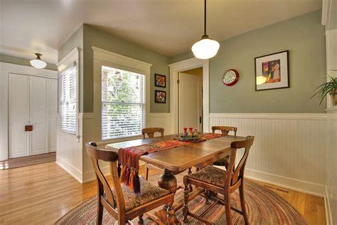 installing beadboard wainscoting dining room craftsman