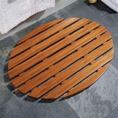 bamboo shower mat oval bamboo shower and bath mat in shower and bath mats