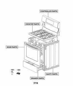 Lg Lrg3081st  01 Gas Range Parts