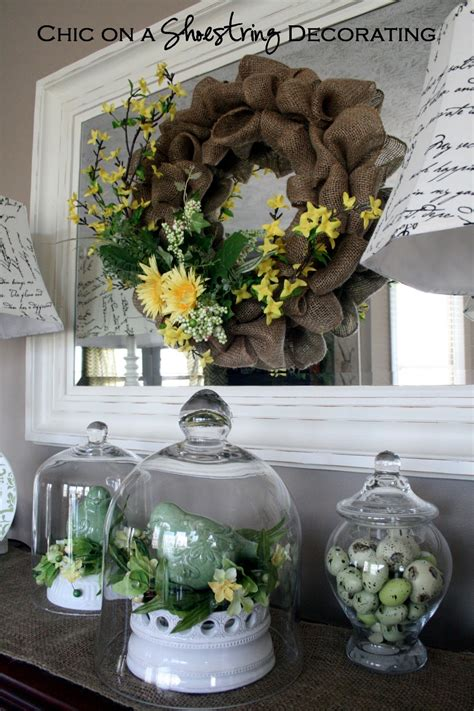 chic   shoestring decorating cheap diy spring wreath