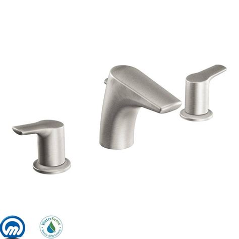 moen kingsley faucet t6125 moen t6125 handle widespread bathroom faucet from