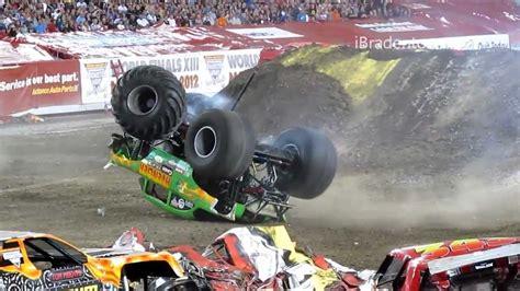 monster truck videos crashes monster jam 2012 ta truck crash compilation 720p