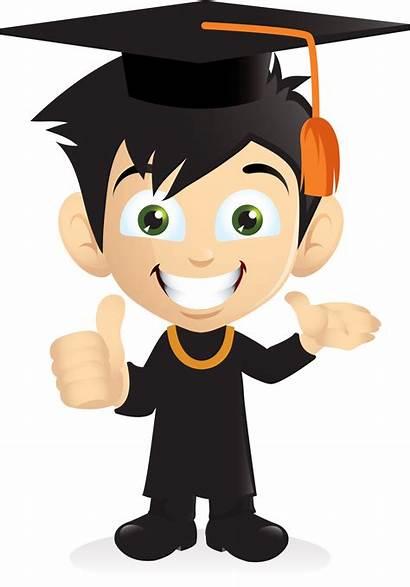 Graduation Boy Graduate Smiling Student Cartoon Vippng