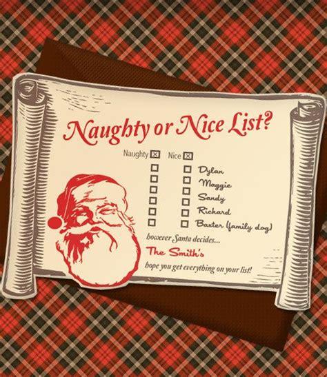 christmas invitation templates  naughty  nice list