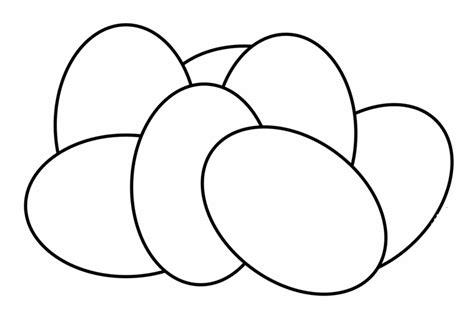 kostenlose malvorlage ostern weisse eier zum bemalen